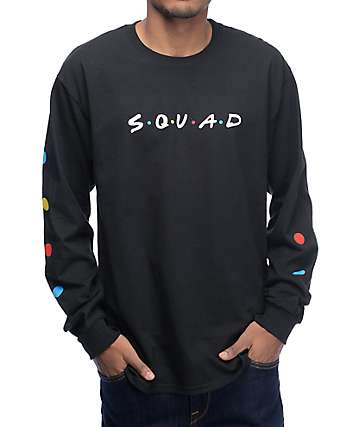 Pizzaslime x Yung Jake Squad Black Long Sleeve T-Shirt