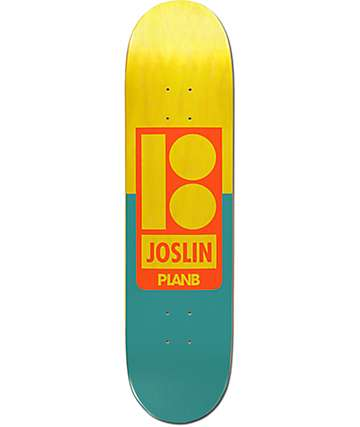 "Plan B Joslin Sections 8.0"" Skateboard Deck"