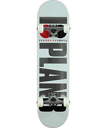 "Plan B Team OG 7.75"" White Skateboard Complete"