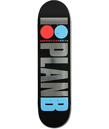 "Plan B Team OG Foil 8.0"" Skateboard Deck"