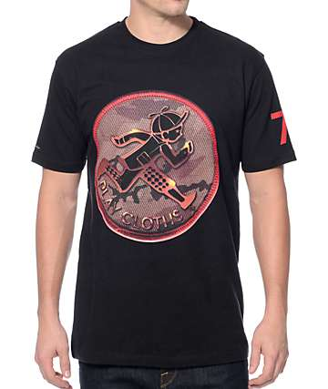 Play Cloths Army Patch Caviar Black T-Shirt