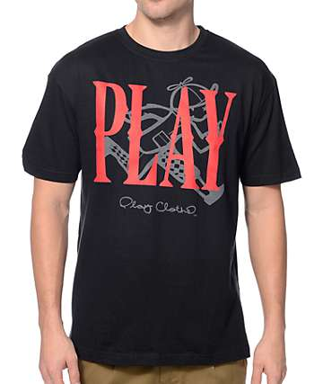 Play Cloths Collision Caviar Black T-Shirt