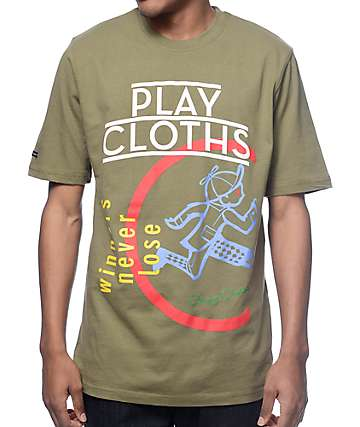 Play Cloths Ultraviolet Olive T-Shirt