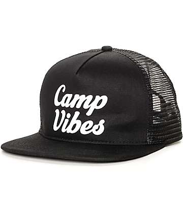 Poler 70's Vibes Black Trucker Hat