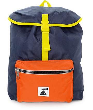Poler Field Navy, Orange & Yellow 14L Backpack