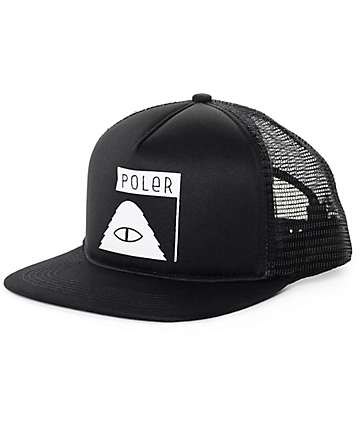 Poler Summit Black Trucker Hat