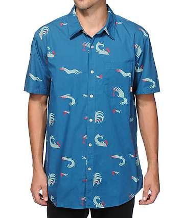 Poler Surf Print Button Up Shirt