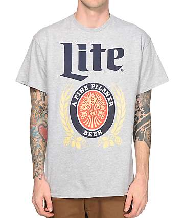 Pop Culture Miller Lite Vintage Logo T-Shirt