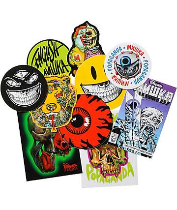 Popaganda x Mishka Sticker Pack
