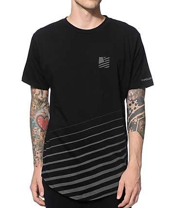 Popular Demand Angle Scoop Elongated Long T-Shirt