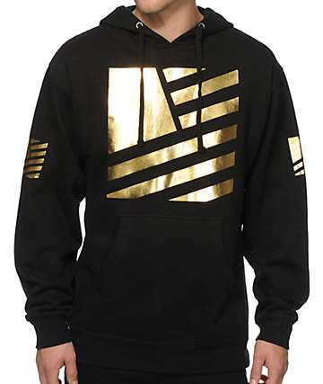 Popular Demand Gold Square Flag Hoodie