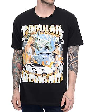 Popular Demand Money Cover Black T-Shirt