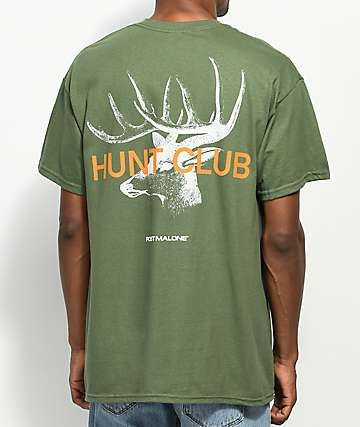 Post Malone Stoney Big Buck Hunt Club Green T-Shirt