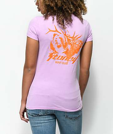 Post Malone Stoney Buck Hunt Club Lilac & Orange T-Shirt