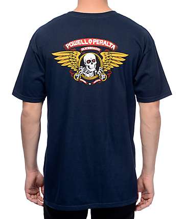 Powell & Peralta Winged Ripper Navy T-Shirt