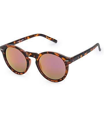 Preppie Round Tortoise Revo Sunglasses