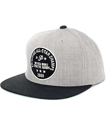 Primitive All Star Black Snapback Hat