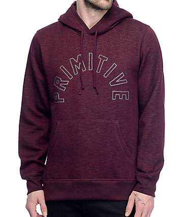 Primitive Arch Burgundy Pullover Hoodie