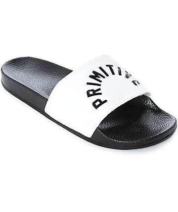 Primitive Arch sandalias en blanco y negro