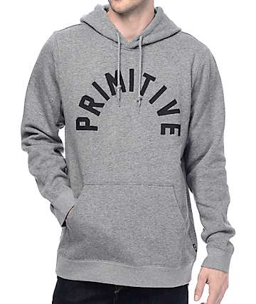 Primitive Arched Heather Grey Hoodie