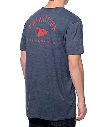 Primitive Arched Pennant Navy T-Shirt
