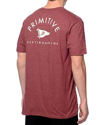 Primitive Arched Pennant Red T-Shirt