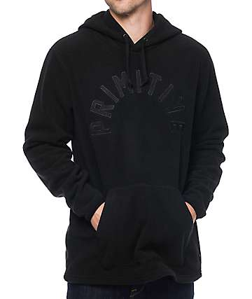 Primitive Arched Polar Fleece Black Hoodie