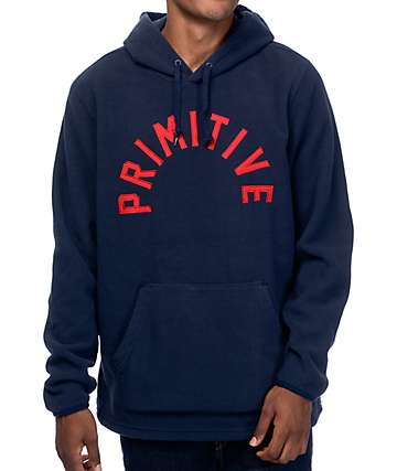Primitive Arched Polar Navy Fleece Hoodie