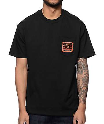 Primitive Authentic Black Pocket T-Shirt