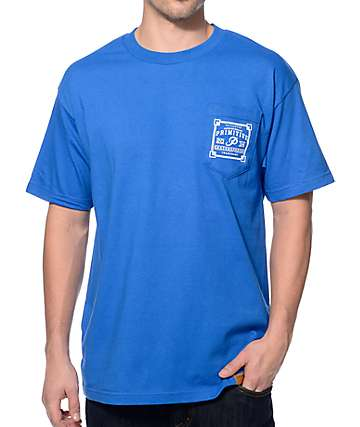 Primitive Authentic Blue Pocket T-Shirt