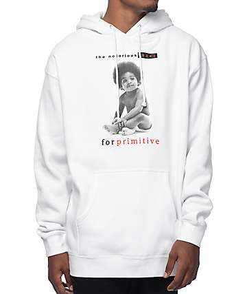 Primitive Baby Biggie White Pullover Hoodie