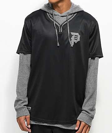 Primitive Baseball 2fer Thermal Black & Grey Long Sleeve T-Shirt