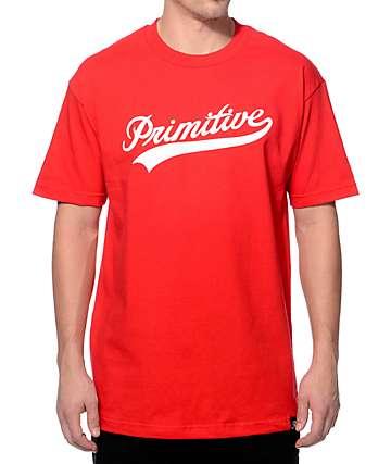 Primitive Big League Red T-Shirt