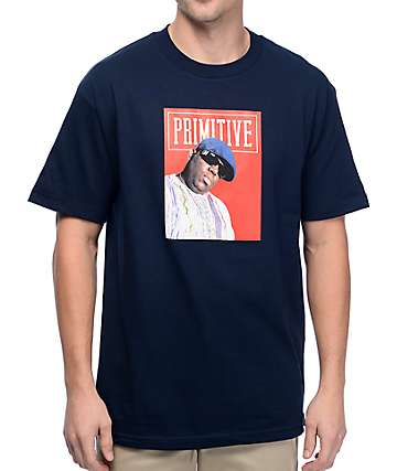 Primitive Biggie Cover Navy T-Shirt