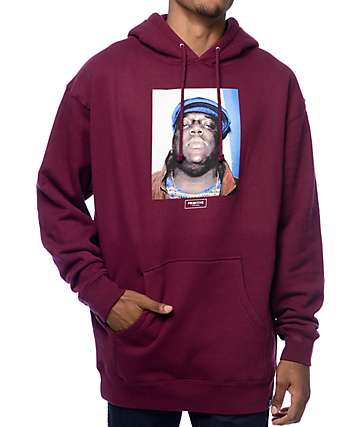 Primitive Biggie Notorious Burgundy Pullover Hoodie