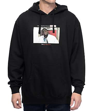 Primitive Biggie Throne Black Pullover Hoodie