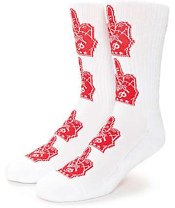 Primitive Birdy White Crew Socks