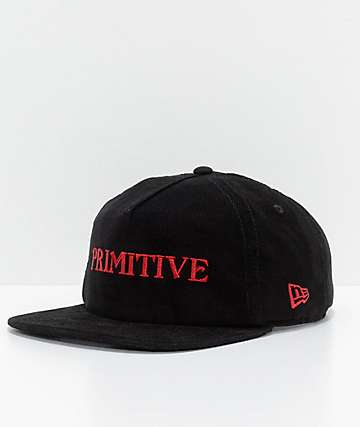 Primitive Black Magic Black Corduroy Snapback Hat
