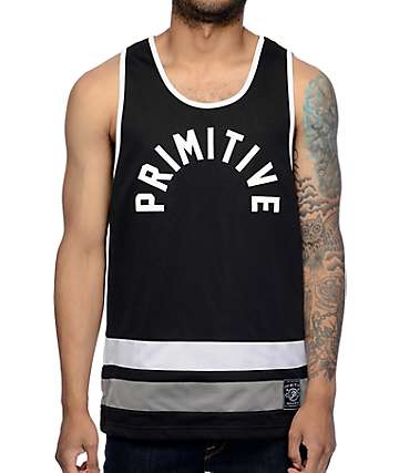 Primitive Blacktop Black Basketball Jersey
