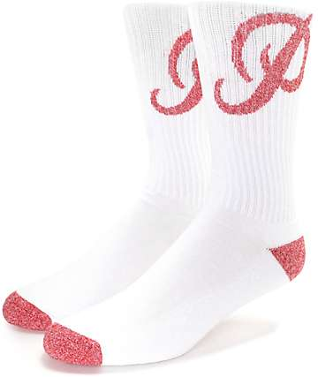 Primitive Blended Classic P Red & White Crew Sock