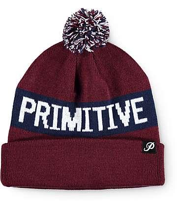 Primitive Block Pom Beanie