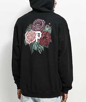 Primitive Bloom Black Hoodie
