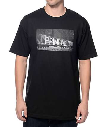 Primitive Box Car Black T-Shirt