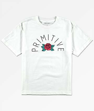 Primitive Boys Rose Arch White T-Shirt