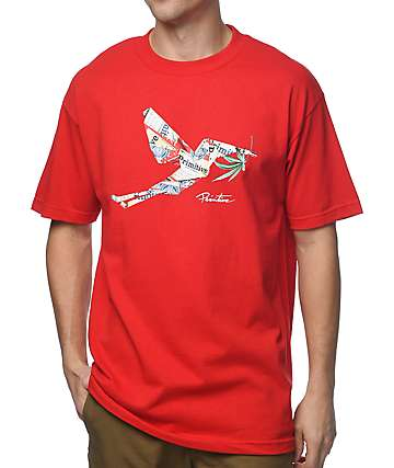 Primitive Buddy camiseta roja