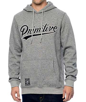 Primitive Built Stronger Heather Grey Pullover Hoodie