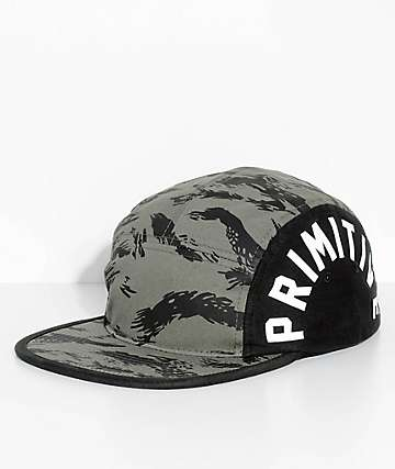 Primitive Camo Arch 5 Panel Strapback Hat