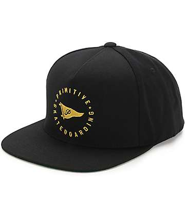 Primitive Circle Pennant Black Snapback Hat