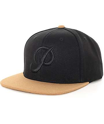 Primitive Classic Black Canvas Snapback Hat