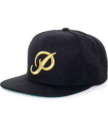 Primitive Classic P Black & Gold Starter Snapback Hat